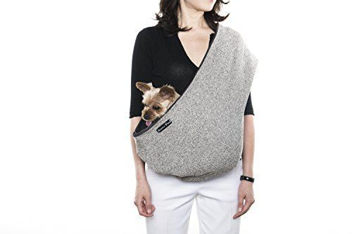 SIMPLYPETZ Pets Sling Carrier for Small Dog Small Oatmeal Knit *** More info could be found at the image url.