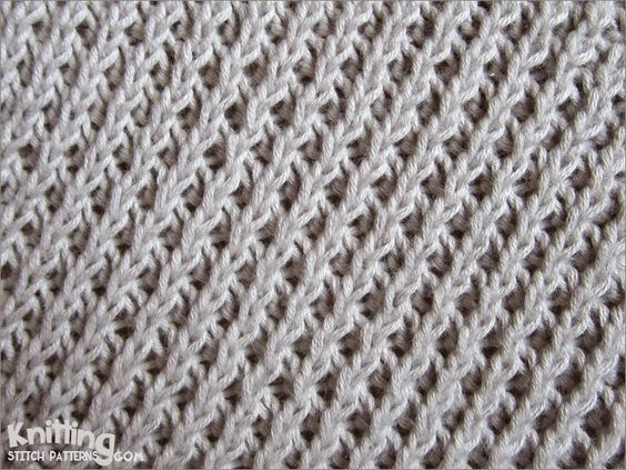 Stitch Patterns For Knitting : Right Diagonal stitch Easy to knit and easy to remember Knitting Stitch P...