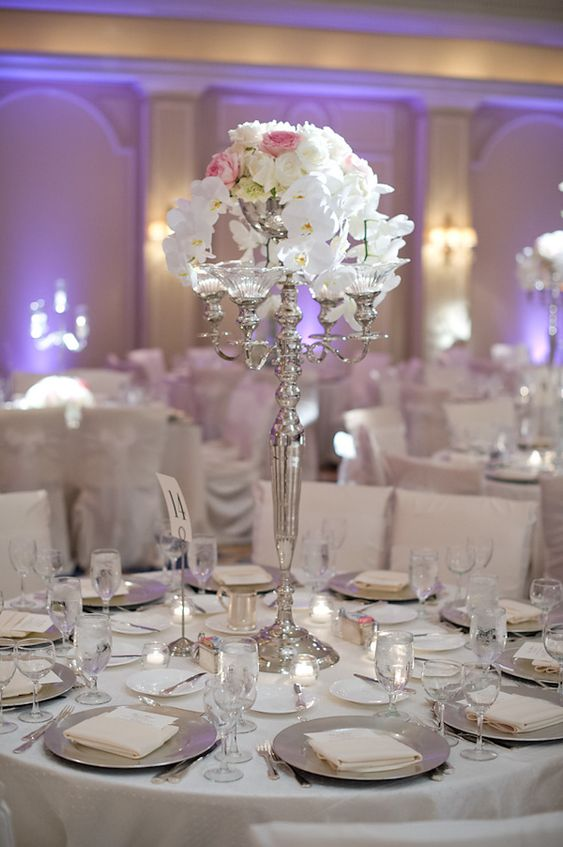 silver wedding table decorations wedding at the houstonian with photos by adam 7468