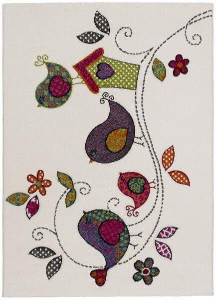 Alfombra Kinder Pajaritos - Alfombra infantil con bonitos dibujos que haran la delicia de los mas peques de la casa.Composición:...