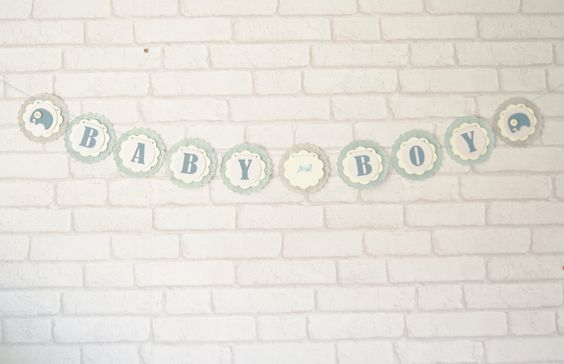 A personal favourite from my Etsy shop https://www.etsy.com/uk/listing/244785036/baby-boy-bannergarlandbaby-showernew