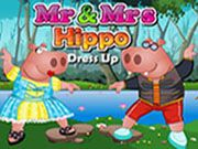 Mr and Mrs Hippo Dress Up    Help the Hippos to look good and beautiful. Select the best dresses for them which suits them well. Choose your favourite coolers, shoes, hat and necklace. Have Fun!! Use mouse to interact.  http://ezarcade.net/games/mr-and-mrs-hippo-dress-up/