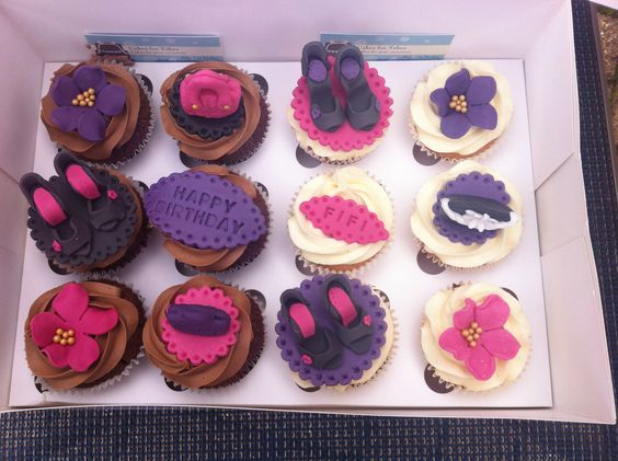 Handbag and shoe cupcakes  by cakes for takes !