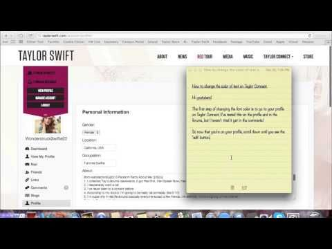 1 How To Change The Text Color On Taylor Connect Youtube Texts Text Color Connection