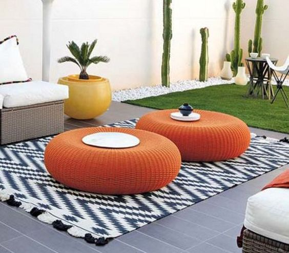 Tire ottoman old tires and ottomans on pinterest