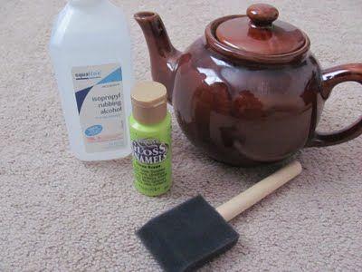 How to repaint ceramics using acrylic paint