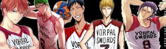 Vorpal Swords - Kiseki no Sedai; Akashi Seijuro, Midorima Shintaro; Aomine Daiki; Kise Ryouta e Murasakibara Atsushi. Primeira edição minha no painel ><