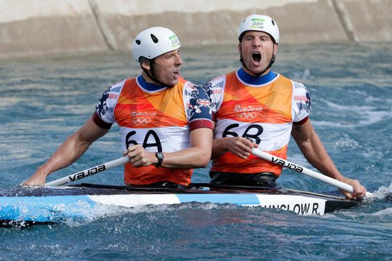 David Florence and Richard Hounslow: Silver in the men's canoe double C2 slalom…