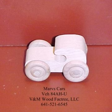 Handcrafted Wood Toy Car 84AH-U unfinished or finished by VMWoodFactree for $1.85