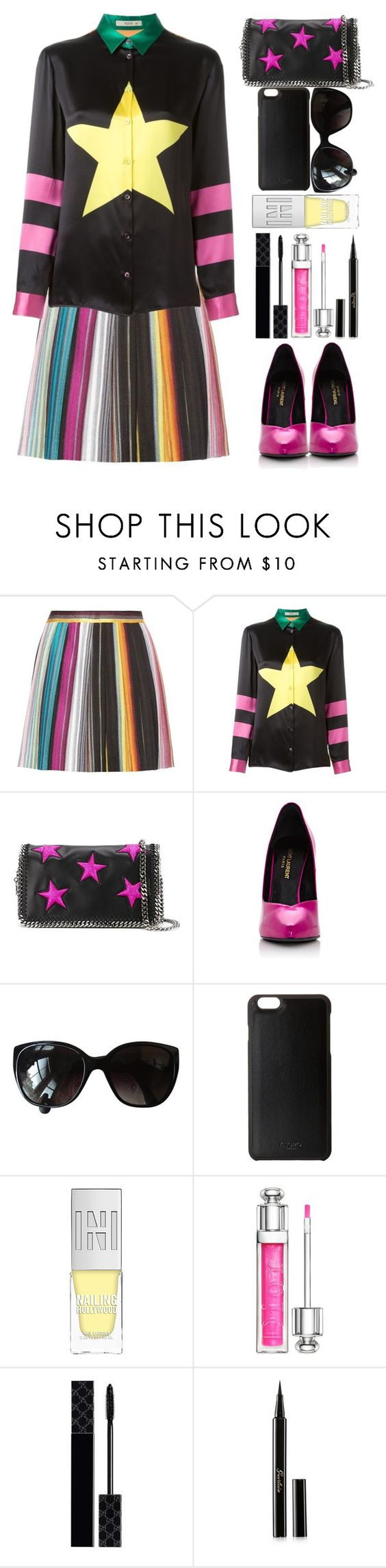 """""""star and stripes"""" by juliehalloran ❤ liked on Polyvore featuring Missoni, Etro, STELLA McCARTNEY, Yves Saint Laurent, Chanel, Knomo, Christian Dior, Gucci and Guerlain"""