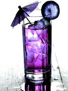I hunted for so many purple cocktails, it made my head spin!! I ended up going to a local (fancy) bar and working with a bartender 1:1... during the slow time of the day, of course.  I thought my drink was delicious!!