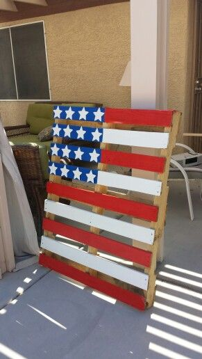 4th of july pallet art