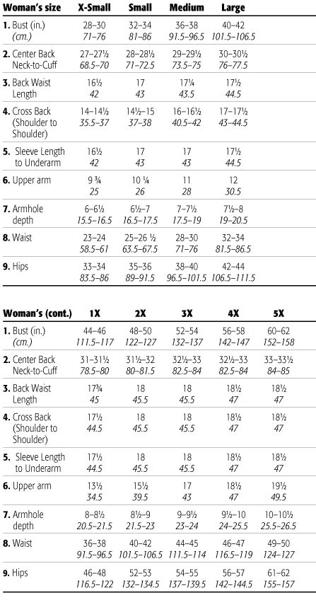 Knitting Hat Size Chart : Woman size charts from xs to site also has measuements