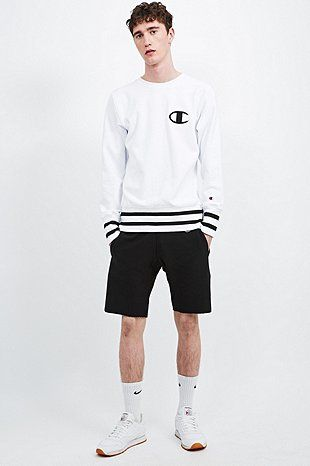 Champion X UO C-Logo Sweatshirt in White | WORK | Pinterest ...