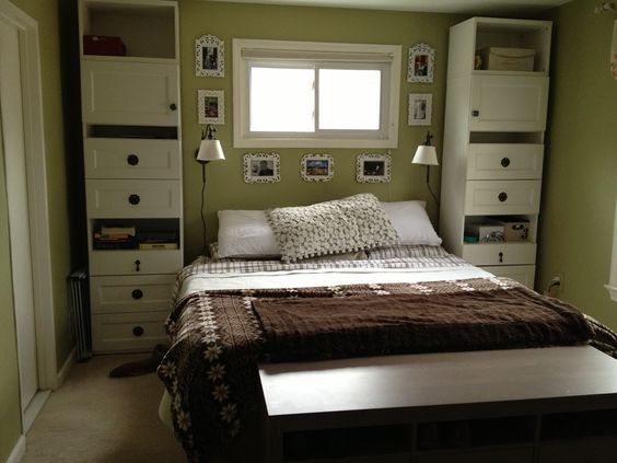 ikea bedroom built in surrounding bed - Google Search: