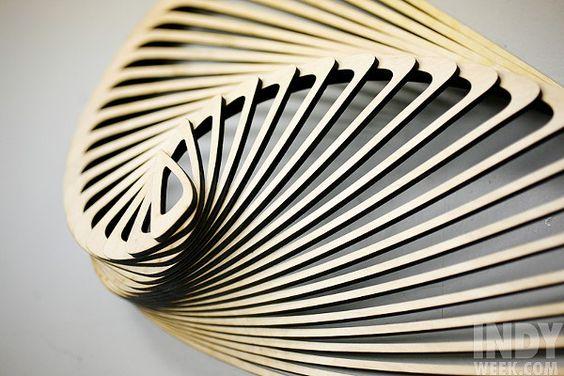 "Mark Plaga's laser-cut creation, ""Half An Angel's Wing"""