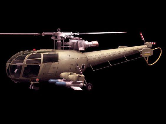 Aérospatiale Alouette III Light utility helicopter 3d model