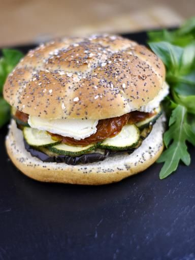 Burger aux légumes du soleil