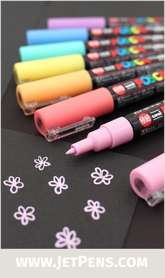 Paint markers pastel colors and on pinterest