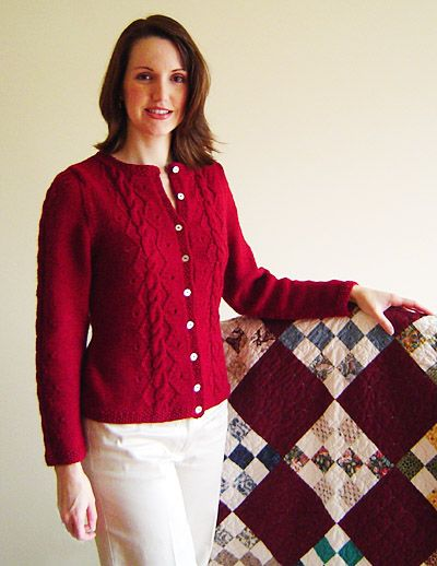 Knitting Pattern For Ladies Cable Sweater : Free knitting pattern women s cardigans bristow