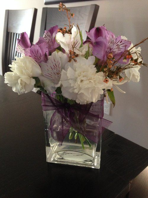 Purple ribbon bridesmaid bouquets and ribbons on pinterest