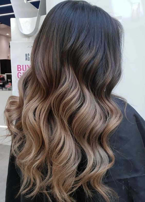 32 Nice Sombre Hair Colors For Long Wavy Hair In 2018 With Images