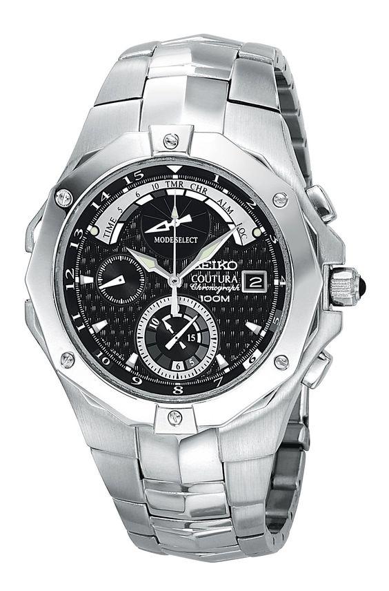 Amazon.com: Seiko Men's SPC015 Coutura Advanced Chronograph Timer Watch: Seiko: Watches
