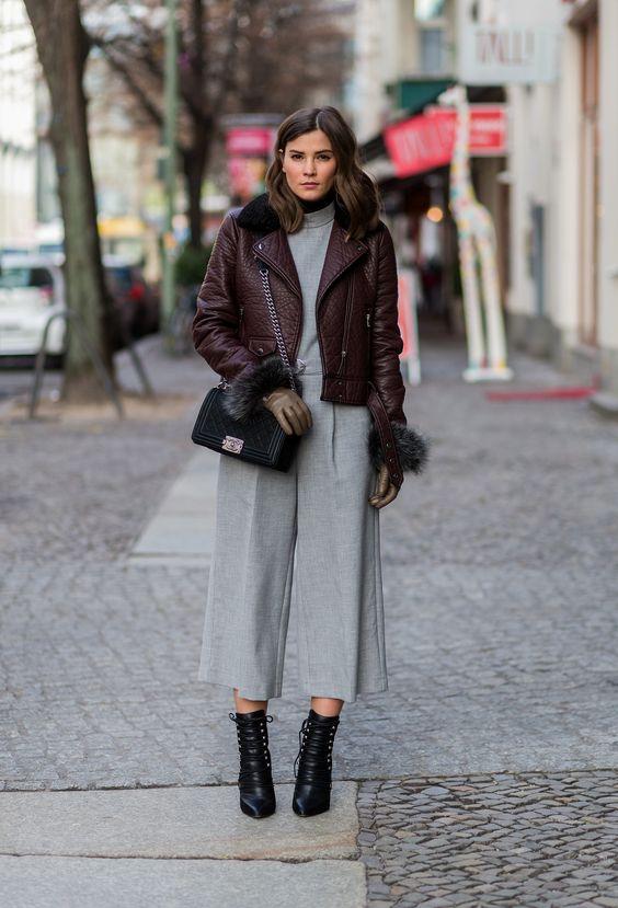 Street Style Berlin Fashion Week Januar 2016 Grey Grey
