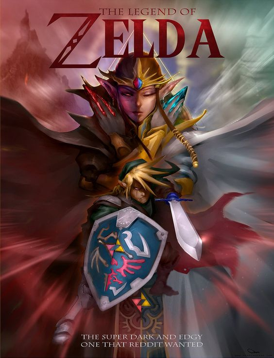 Dark and edgy Zelda. One can dream. *sigh* - The Legend of Zelda by Darren Lim Geers.