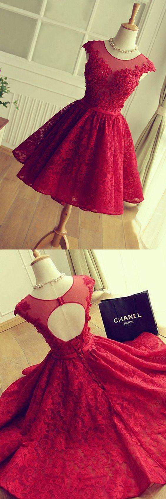 2016 homecoming dresses,homecoming dresses,short prom dresses,red homecoming dresses,lace homecoming dresses,fancy hoco dresses for teens