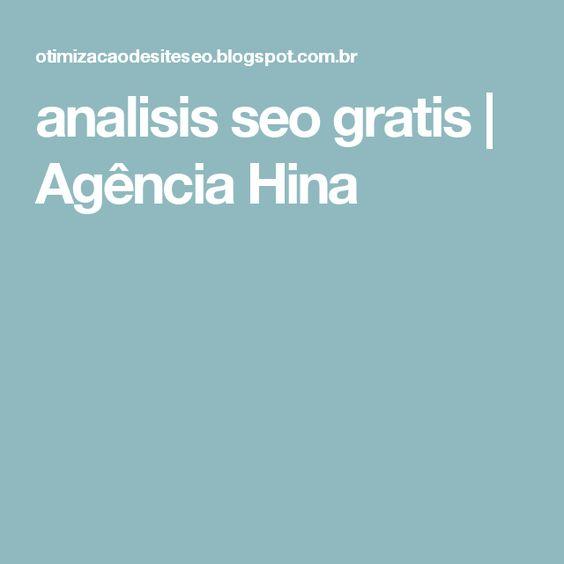analisis seo gratis | Agência Hina