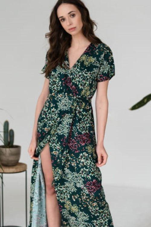 Dluga Sukienka W Kwiaty Maxi Dress Dresses Fashion
