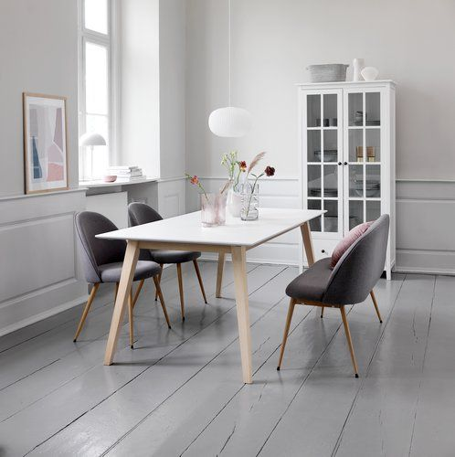 Dining Table Tarup 95x195 285 White Jysk Kjokken Spisestue