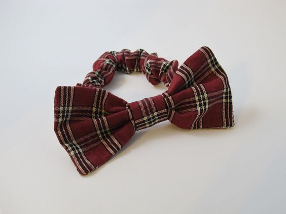 Holiday Plaid Bow Tie Collar For Your Dog by occasionsbysarah, $15.00