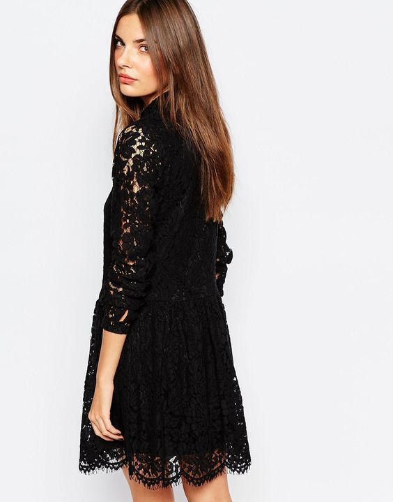 Bild 2 von Vila – Shirt-Kleid aus Spitze