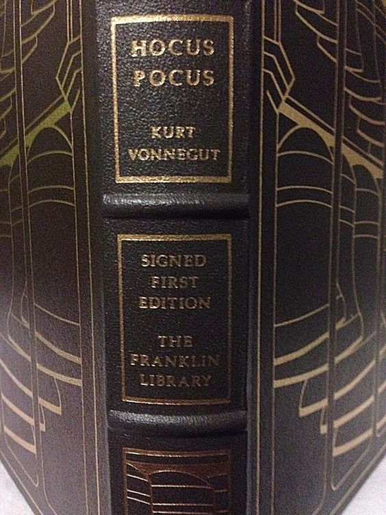 Kurt Vonnegut signed HOCUS POCUS 1st ed Franklin Library Leather1990 sci-fi rare
