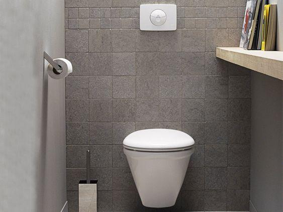 Mooi eenvoudig ontwerp voor het kleinste kamertje tiles floors pinterest google deco - Deco toilet ontwerp ...