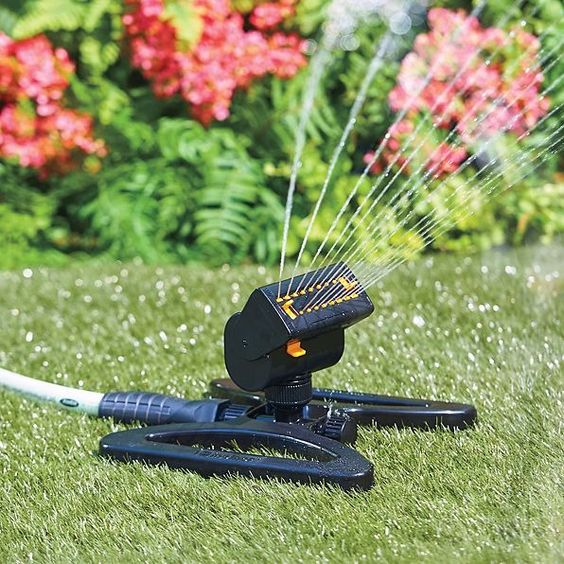 When you water your lawn, do you often end up watering your neighbor's lawn or the sidewalk? A mini-turbo oscillating sprinkler will keep you from wasting H2O.