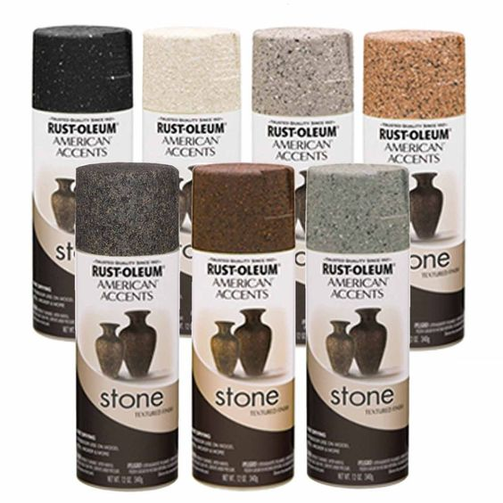 Rust-Oleum American Accents Stone Textured Spray Paint Vases Pots Arts Crafts
