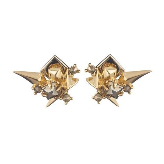 Alexis Bittar Golden Studded Post Earring (165 CAD) ❤ liked on Polyvore featuring jewelry, earrings, gold, alexis bittar, post back earring, post earrings, alexis bittar earrings and earring jewelry