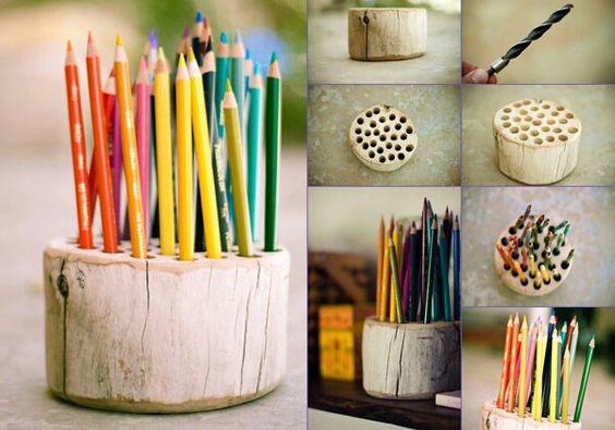 #Lapicero #Portalápices #Colores #Madera #ObjetosReciclados #Manualidades #HazloTúMismo