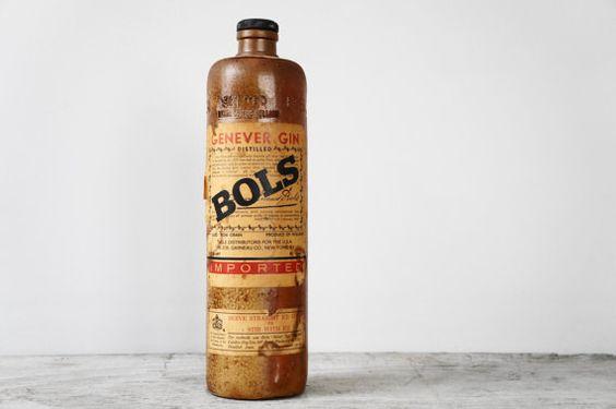 Vintage Lucas Bols Genever Gin Rustic Stoneware par RavenAndFawn