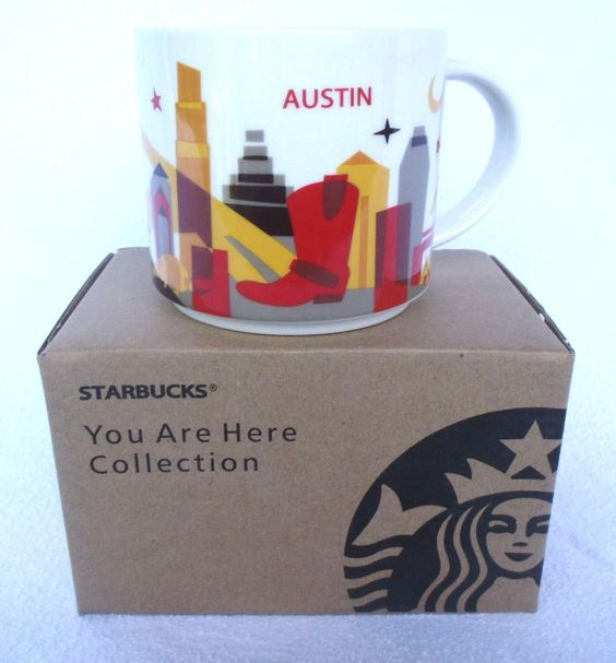 Starbucks Tasse Mug AUSTIN you are here collection neu
