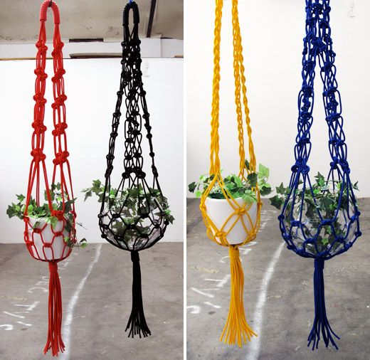 Macram suspension de pot and portemanteaux on pinterest - Suspension pot de fleur macrame ...