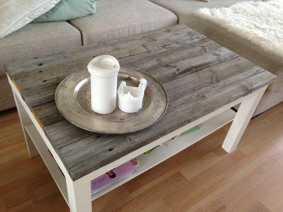 Hack con madera de una mesa Lack de IKEA