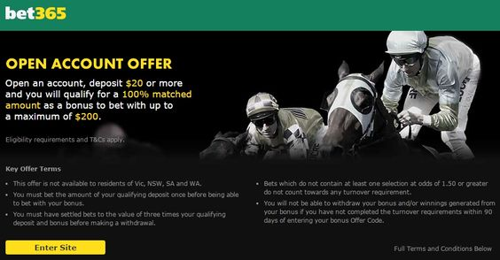 One of the world's leading online gambling companies. The most comprehensive In-Play service. Initial Deposit Bonus for New Customers. Bet on Horse Racing, Footy, Rugby, Soccer and Cricket. Watch Live Sport. We stream over 30,000 events. Bet on Sports. http://www.bet365.com.au/home/?affiliate=365_156558
