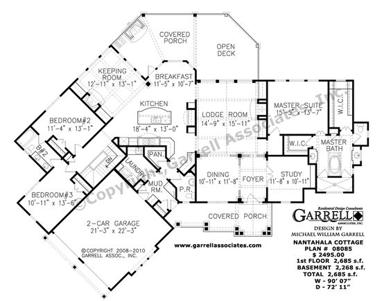 Nantahala Cottage House Plan 08085 1st Floor Plan Rustic