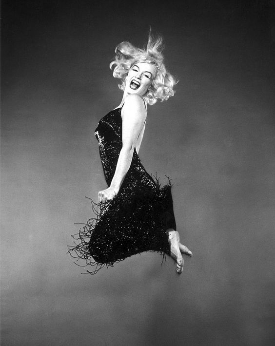 "Marilyn Monroe by Philippe Halsman ""Jumpology"", 1959."