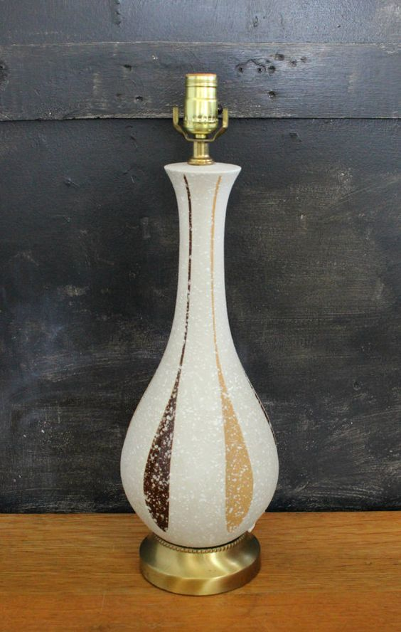1960s Retro Lamp. Genie Bottle Ceramic 3Way by BlueSugarVintage, $31.00