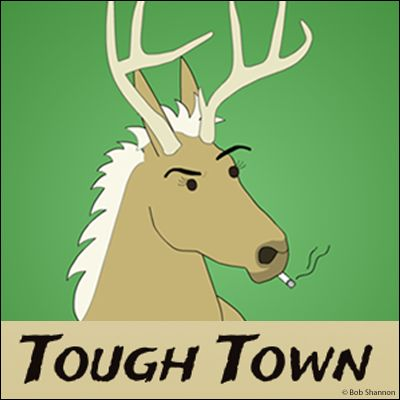 Tough Town chronicles the misadventures of Rudolph, a divorced reindeer working unhappily as a 4th grade teacher. His hobbies include gambling, smoking, drinking and serving as a terrible role model for his son. When he's not driving his principal crazy, or neglecting his underperforming students, he's hanging out with a bizarre group of aliens down at the local bar. | Read more @ http://www.gocomics.com/tough-town?utm_source=pinterest&utm_medium=socialmarketing&utm_campaign=social-pin
